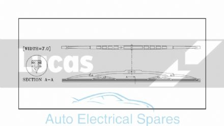 "Lucas conventional wiper blade 19"" with spoiler"